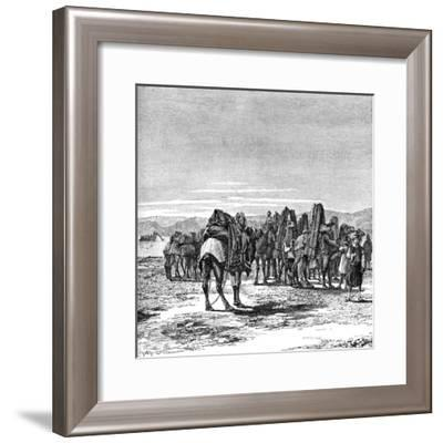 A Caravan on the Banks of the Euphrates, 1895--Framed Giclee Print