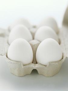 A Carton of Six White Eggs