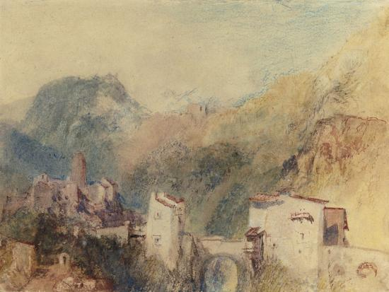 A Castle in the Val d'Aosta, Italy-J^ M^ W^ Turner-Giclee Print