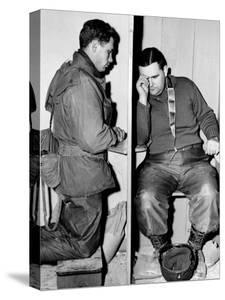A Catholic Chaplain Hears the Confession of a Young Private after Services
