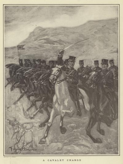 A Cavalry Charge-Fletcher C. Ransom-Giclee Print