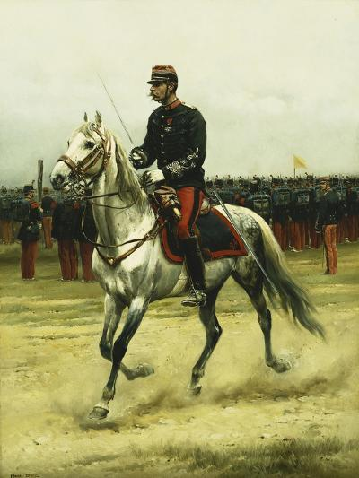 A Cavalry Officer Passing Troops, 1885-Jean-Baptiste Edouard Detaille-Giclee Print