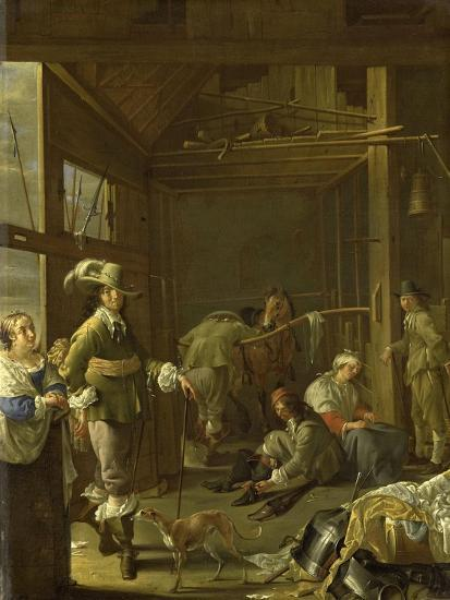 A Cavalry Stable-Jacob Duck-Art Print