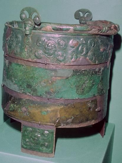 A Celtic bronze bucket.-Unknown-Giclee Print