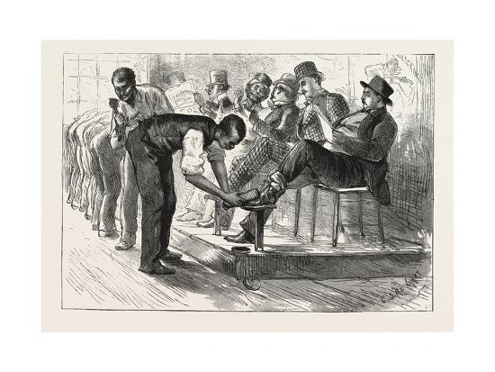 A Centennial Shine: a Sketch at the Philadelphia Exhibition, 1876, Usa-Charles Stanley Reinhart-Giclee Print