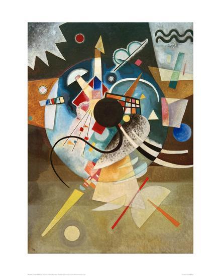 A Centre, 1924-Wassily Kandinsky-Giclee Print