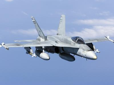 A CF-188A Hornet of the Royal Canadian Air Force-Stocktrek Images-Photographic Print