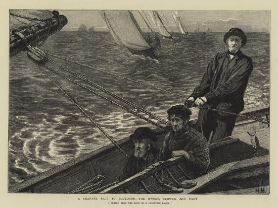 A Channel Race to Boulogne, the Owner, Skipper, and Pilot--Giclee Print