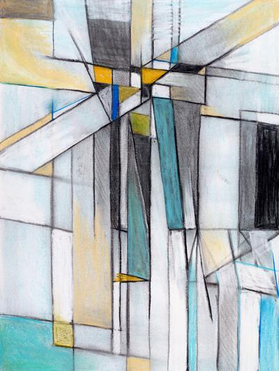 A Charcoal and Pastel Study for an Abstract Painting-clivewa-Art Print