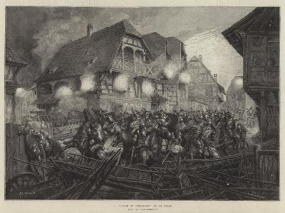 A Charge of Cuirassiers, from the Paris Exhibition--Giclee Print
