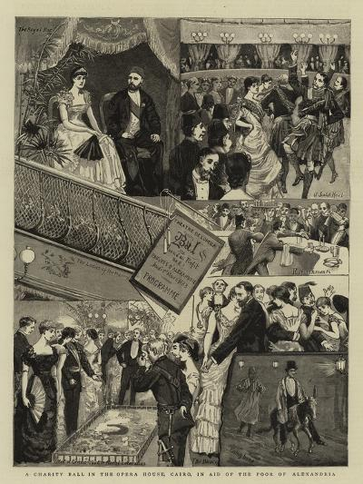 A Charity Ball in the Opera House, Cairo, in Aid of the Poor of Alexandria--Giclee Print