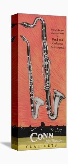 A Charles Gerard Conn Giant Boehm Alto 40-N Clarinet and Giant Boehm Bass 50-N Clarinet--Stretched Canvas Print
