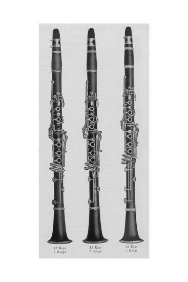 A Charles Gerard Conn New Boehm Clarinets--Giclee Print
