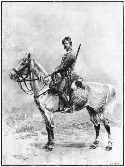 A Chasseur of the Guard, Russia, 1892-Jean Baptiste Edouard Detaille-Giclee Print