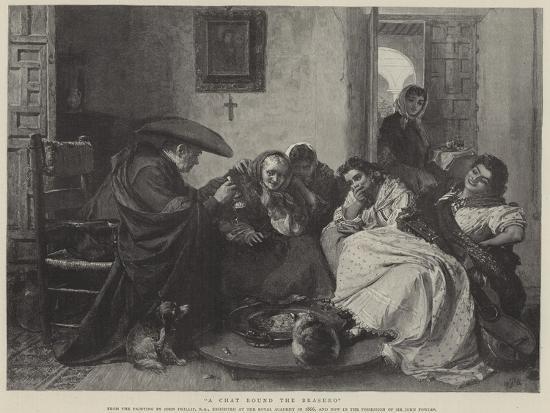 A Chat Round the Brasero-John Phillip-Giclee Print