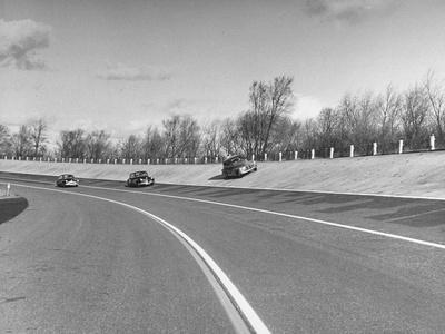 A Chevrolet Being Tested on the General Motors Testing Ground--Photographic Print