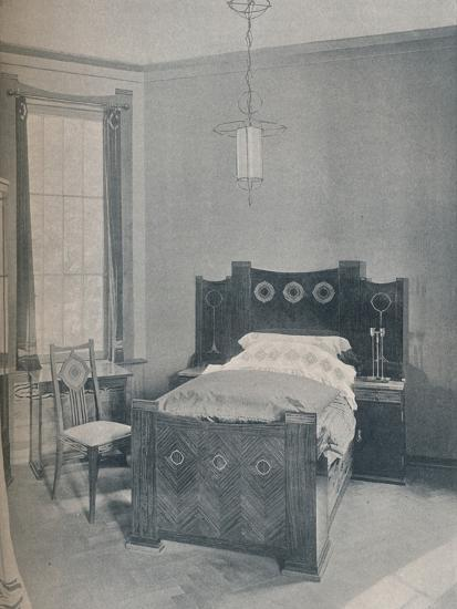 A child's bed designed by Peter Behrens, executed by TD Heymann, 1901-Unknown-Photographic Print