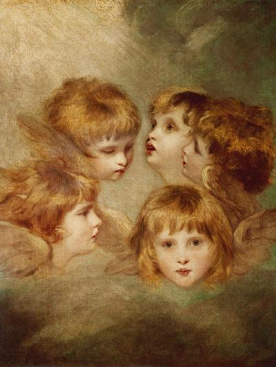 A Child's Portrait In Different Views: Angel's Heads, 1787-Sir Joshua Reynolds-Giclee Print