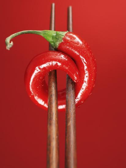 A Chili on Chopsticks-Marc O^ Finley-Photographic Print