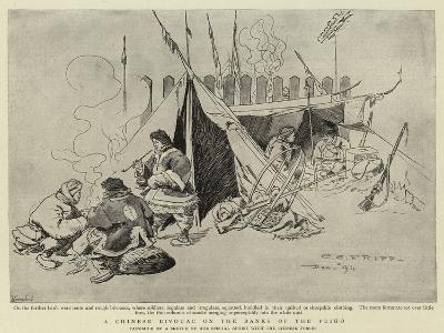 A Chinese Bivouac on the Banks of the Peiho-Charles Edwin Fripp-Giclee Print