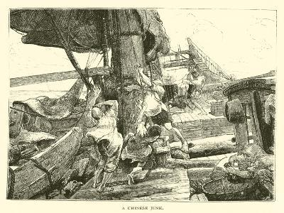 A Chinese Junk--Giclee Print