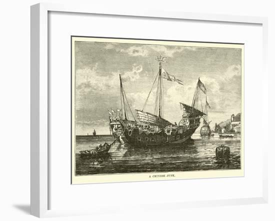 A Chinese Junk-null-Framed Giclee Print