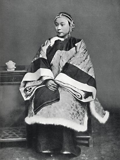 A Chinese lady of high rank in full dress costume, 1902-Unknown-Photographic Print