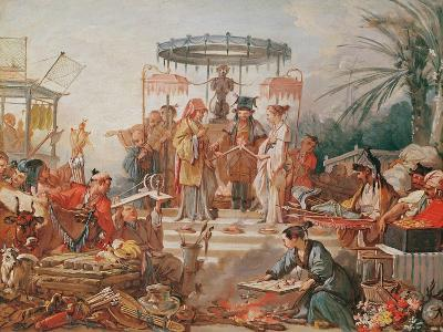 A Chinese Marriage, Study for a Tapestry Cartoon, C.1742-Francois Boucher-Giclee Print
