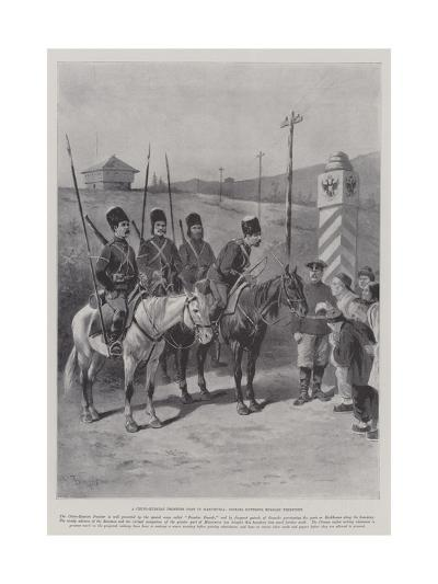 A Chino-Russian Frontier Post in Manchuria, Coolies Entering Russian Territory-Paul Frenzeny-Giclee Print