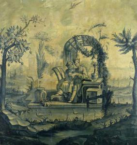 A Chinoiserie Panel in the Manner of Jean Pillement (1728-1808), 19th Century