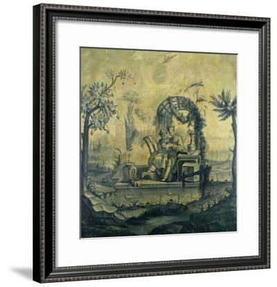A Chinoiserie Panel in the Manner of Jean Pillement (1728-1808), 19th Century--Framed Giclee Print