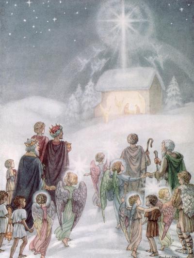 A Christmas Card from a Watercolour-Daphne Allan-Giclee Print