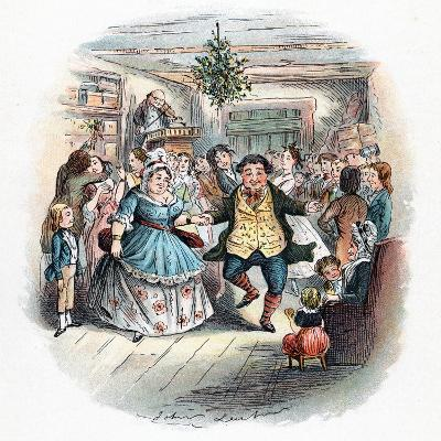 A Christmas Carol: Mr Fezziwig's Ball, 1843-John Leech-Giclee Print