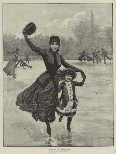 A Christmas Greeting-Edward Morant Cox-Giclee Print