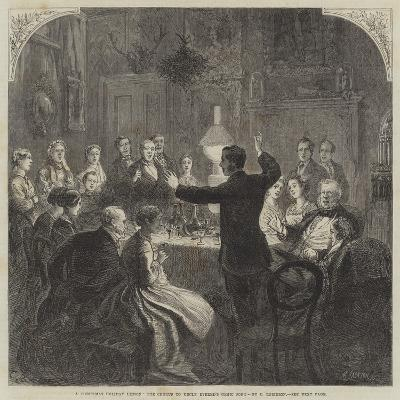 A Christmas Holiday Lesson, the Chorus to Uncle Evered's Comic Song-Charles Robinson-Giclee Print