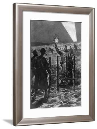 A Christmas Incident in the Trenches in the West, December 1914-Frederic Villiers-Framed Giclee Print