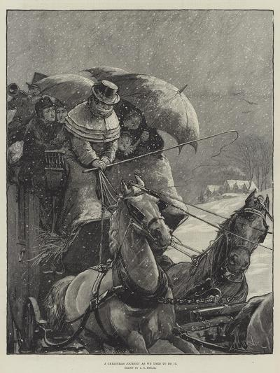 A Christmas Journey as We Used to Do It-Alfred Edward Emslie-Giclee Print