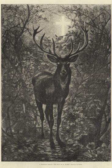 A Christmas Legend, the Stag of St Hubert--Giclee Print