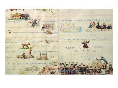 A Christmas Letter Written with Pictograms-John Everett Millais-Premium Giclee Print