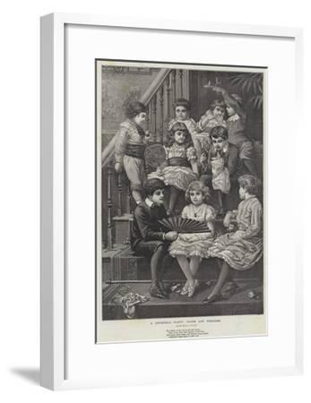 A Christmas Party, Warm and Welcome--Framed Giclee Print