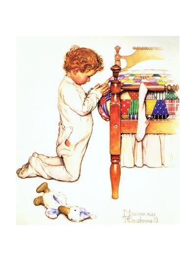 A Christmas Prayer-Norman Rockwell-Giclee Print