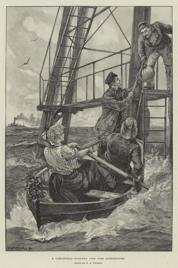 A Christmas Pudding for the Lighthouse-William Heysham Overend-Giclee Print