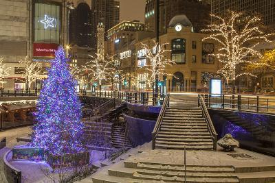 A Christmas Tree on North Michigan Ave in the Magnificent Mile-Richard Nowitz-Photographic Print