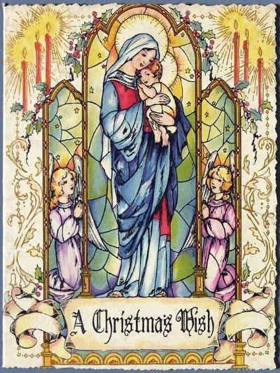 A Christmas Wish, Christmas Card, 1920s--Giclee Print