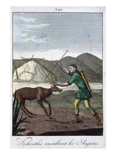 A Chukchi Shaman Consulting the Oracle, 1811--Giclee Print