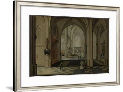A Church Interior-Pieter Neefs II-Framed Art Print