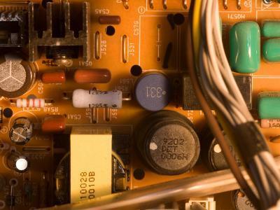 A Circuit Board Inside a CRT Monitor-Joel Sartore-Photographic Print