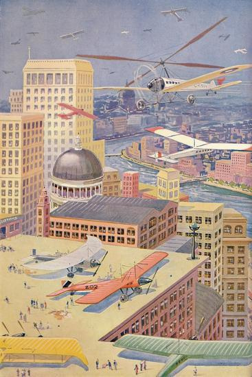 'A City of the Future', 1927-Unknown-Giclee Print
