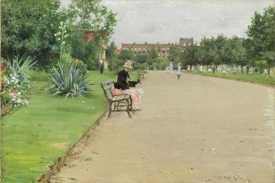 A City Park, C.1887-William Merritt Chase-Giclee Print