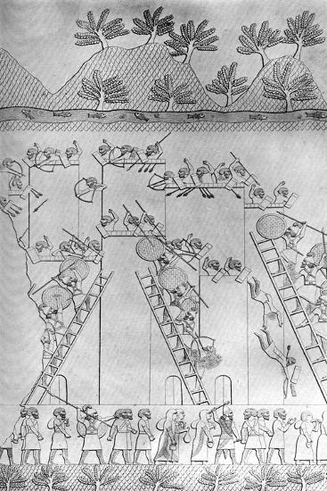 A City Taken by Assault by the Assyrians, C1853, (C1900-192)-Austen Henry Layard-Giclee Print